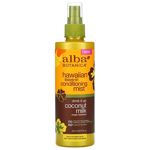 Leave-In Ενυδατικό Mist Μαλλιών με Γάλα Καρύδας (237ml) Alba Botanica