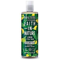 Σαμπουάν Μαλλιών με Βιολογικό Λεμόνι & Τεϊόδεντρο - Κανονικά/Λιπαρά Μαλλιά (400ml) Faith in Nature