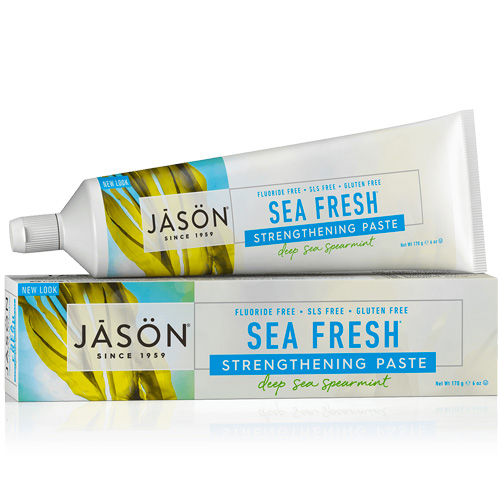 Φυτική Οδοντόκρεμα Χωρίς Φθόριο Sea Fresh® Δυόσμος (170γρ) Jason
