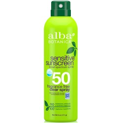 Αντηλιακό Σπρέι Σώματος & Προσώπου 'Χωρίς Αρωμα' SPF 50 - Φυτικό/Βιοδιασπώμενο (171γρ) Alba Botanica