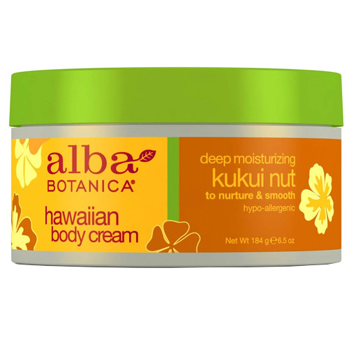 Ενυδατική Κρέμα Σώματος με Καρύδι Kukui Χαβάης (184γρ) Alba Botanica