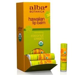 Lip Balm Χειλιών με Λάδι Καρύδας 'Hawaiian Coconut Cream' (4.2γρ) Alba Botanica
