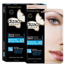 Φυσική full-face Μάσκα 'Hyaluronic Wrinkle Filler 3D' με Υαλουρονικό Οξύ (1τμχ) Dizao Natural