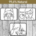 Φυσική full-face Μάσκα 'Boto Collagen 3D' με Κολλαγόνο (1τμχ) Dizao Natural