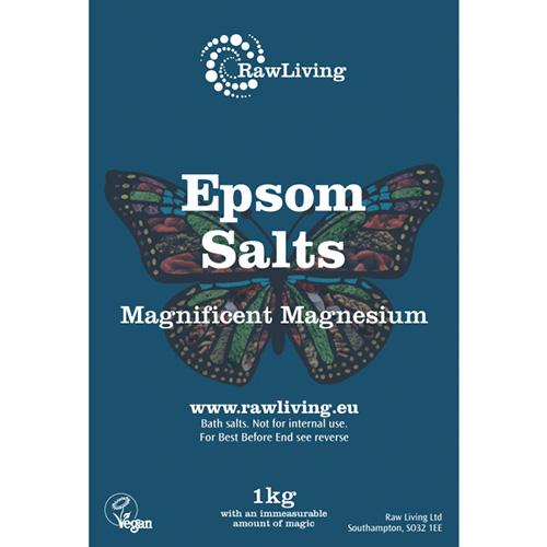 Άλατα Epsom / Θειικό Μαγνήσιο (1000γρ) Raw Living