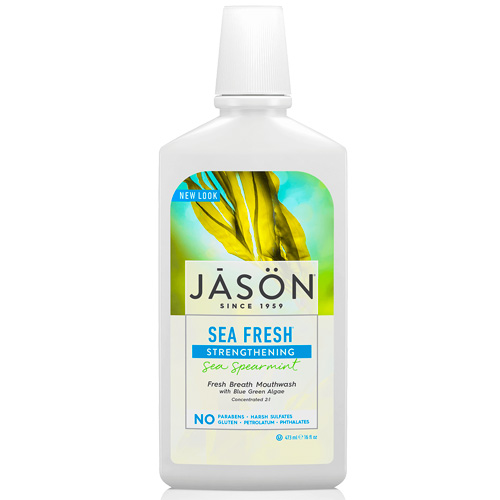 Στοματικό Διάλυμα για Γερά Δόντια 'Sea Fresh' Δυόσμος (473ml) Jason