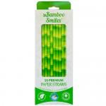 Καλαμάκια 100% Βιοαδιασπώμενα  (50τμχ) Bamboo Smiles
