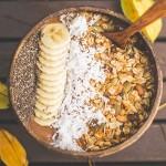 Μπολ Καρύδας με ΔΩΡΟ Ξύλινο Κουτάλι 'Μοτίβο Φύλλα' (1τμχ) Jungle Straws