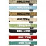 Χρωματιστή Θήκη Μεταφοράς για Καλαμάκια από Γιούτα (1τεμ) Jungle Straws