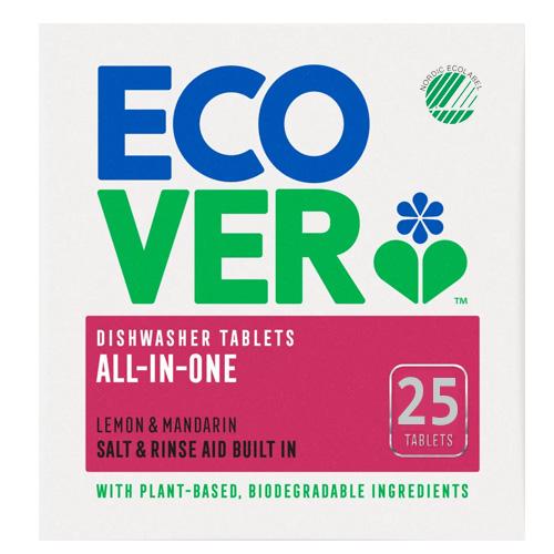 Ταμπλέτες Πλυντηρίου Πιάτων All-in-One 'Λεμόνι & Γκρέιπφρουτ' Φυτικές/Βιοδιασπώμενες (25τμχ) Ecover