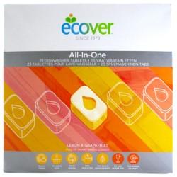 Ταμπλέτες Πλυντηρίου Πιάτων All-in-One 'Λεμόνι & Γκρέιπφρουτ' Φυσικές/Βιοδιασπώμενες (25τμχ) Ecover