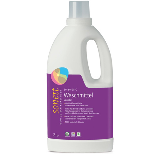 Υγρό Πλυντηρίου Ρούχων με Βιολογικό Φυτικό Σαπούνι 'Λεβάντα' - Βιοδιασπώμενο (2L) Sonett