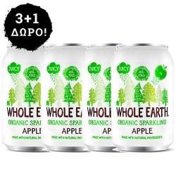 3 + 1 ΔΩΡΟ! Αναψυκτικό Μήλο - Xωρίς Προσθήκη Ζάχαρης (330ml) Whole Earth