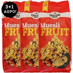 2+1 ΔΩΡΟ! Μούσλι Δημητριακών με Φρούτα Xωρίς Γλουτένη (325γρ) Bauckhof