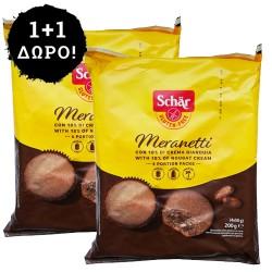 1 + 1 ΔΩΡΟ! Κεκάκια Σοκολάτας με Γέμιση Τζιαντούγια 'Meranetti' Χωρίς Γλουτένη/Λακτόζη (4x50γρ) Schar