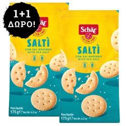 1 + 1 ΔΩΡΟ! Μικρά Κράκερς 'Salti' με Θαλασσινό Αλάτι - Χωρίς Γλουτένη/Λακτόζη (175γρ) Dr. Schar