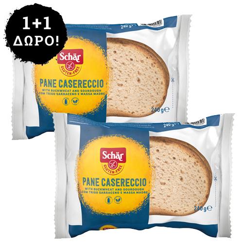 1+1 ΔΩΡΟ! Χωριάτικο Ψωμί Χωρίς Γλουτένη/Λακτόζη (240γρ) Dr. Schar