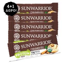 4+1 ΔΩΡΟ! Μπάρα Πρωτεΐνης Sunwarrior με Κανέλα (57γρ) Sunwarrior