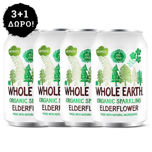 3+1 ΔΩΡΟ! Αναψυκτικό Σαμπούκο - Xωρίς Προσθήκη Ζάχαρης (330ml) Whole Earth