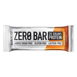 Μπάρα Πρωτεΐνης 'Zero Bar Σοκολάτα Καραμέλα' - Χωρίς Γλουτένη/Ζάχαρη (50γρ) BioTech USA