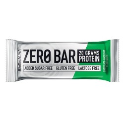 Μπάρα Πρωτεΐνης 'Zero Bar Σοκολάτα & Φουντούκι' - Χωρίς Γλουτένη/Ζάχαρη (50γρ) BioTech USA