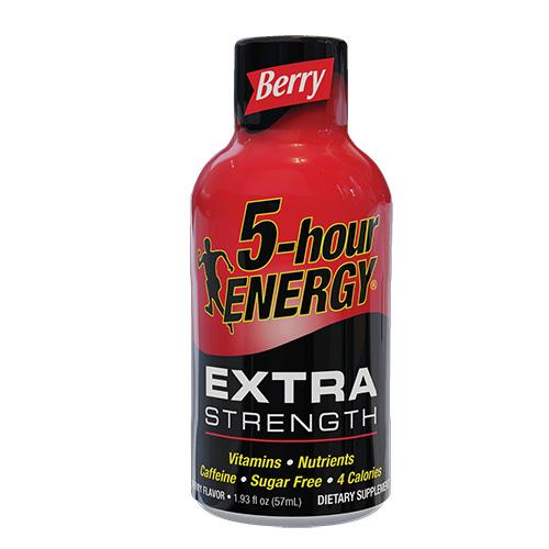 Ενεργειακό Shot Μακράς Διάρκειας 'Extra Strength' Βατόμουρο - Χωρίς Ζάχαρη (57ml) 5-Hour Energy®