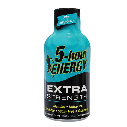 Ενεργειακό Shot Μακράς Διάρκειας 'Extra Strength' Μπλέ Ράσμπερι - Χωρίς Ζάχαρη (57ml) 5-Hour Energy®