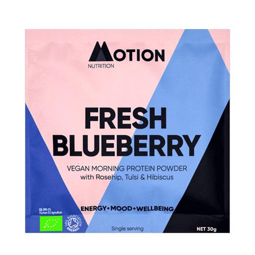 Φακελάκι - Vegan Πρωτεΐνη για Ενέργεια το Πρωί 'Fresh Blueberry Morning' (30gr) Motion Nutrition