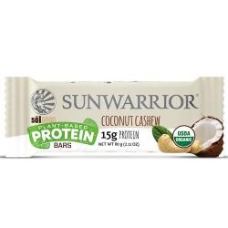 Μπάρα Πρωτεΐνης Sunwarrior Καρύδα & Κάσιους (60γρ) Sunwarrior