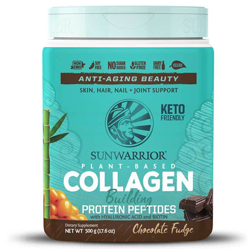 Vegan Πρωτεΐνη με Πεπτίδια Κολλαγόνου 'Collagen Building Peptides' - Σοκολάτα (500γρ) Sunwarrior
