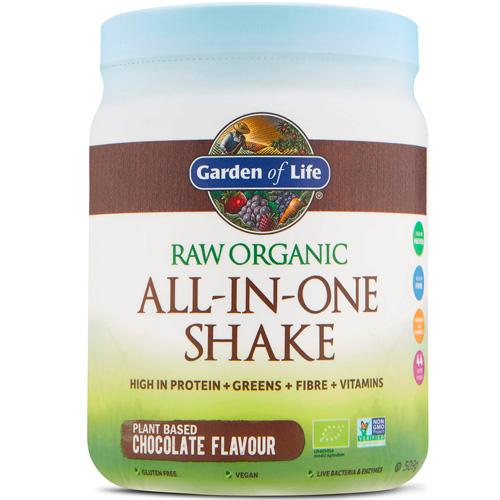 Μείγμα με Superfoods, Πρωτεΐνη, Ένζυμα, Προβιοτικά 'All-in-One Shake' Σοκολάτα (509γρ) Garden of Life