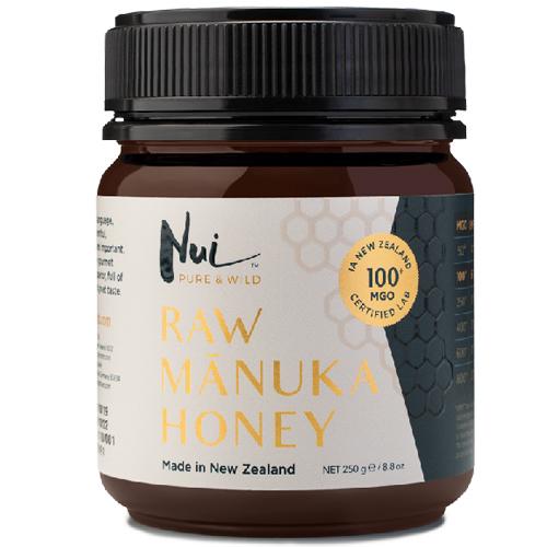 Ωμό Μέλι Μανούκα MGO 100+ (250γρ) Nui Honey