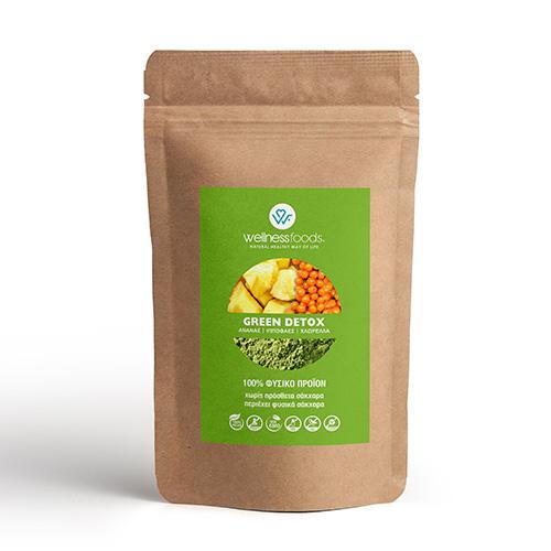 'Green Detox' Μείγμα με Ανανά, Ιπποφαές κ' Χλωρέλλα (150γρ) Wellness Foods
