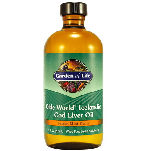 Μουρουνέλαιο 'Olde World Icelandic Cod Liver Oil' Λεμόνι-Μέντα (236ml) Garden of Life