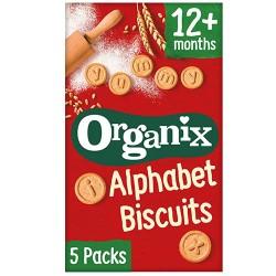 Μπισκότα Αγγλική Αλφαβήτα +12μ (5x25γρ) Organix