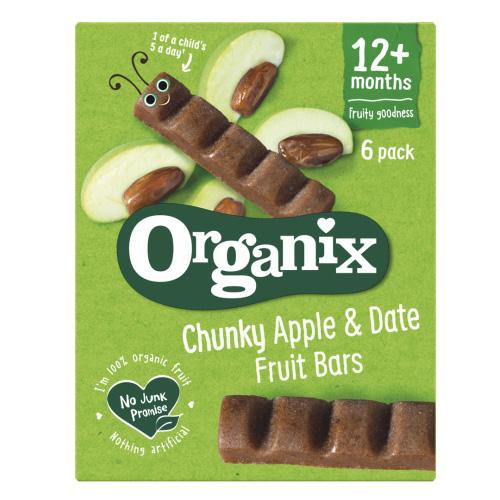 Μπάρες Φρούτων με Μήλα κ' Χουρμάδες +12μ (6x17γρ) Organix