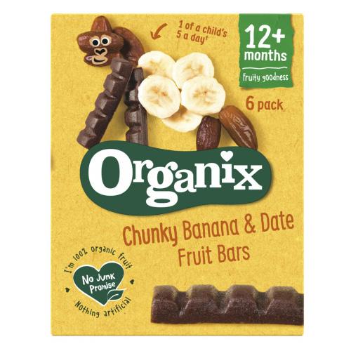 Μπάρες Φρούτων με Μπανάνα & Χουρμάδες +12μ (6x17γρ) Organix