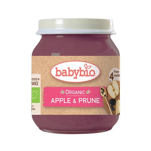 Φρουτόκρεμα Μήλο & Δαμάσκηνο +4μ (130γρ) Babybio