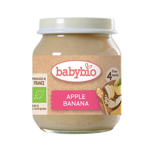 Φρουτόκρεμα Μήλο & Μπανάνα +4μ (130γρ) Babybio