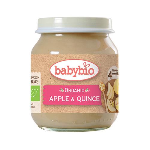Φρουτόκρεμα Μήλο & Κυδώνι +4μ (130γρ) Babybio