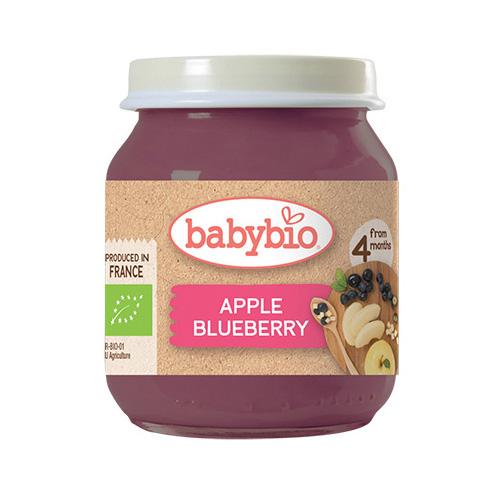 Φρουτόκρεμα Μήλο & Μύρτιλλο +4μ (130γρ) Babybio