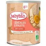 Κρέμα Δημητριακών με Κινόα & Φρούτα +6μ (220γρ) Babybio