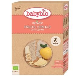Κρέμα Δημητριακών με Κινόα & Φρούτα +6μ Χωρίς Γλουτένη/Ζάχαρη (200γρ) Babybio