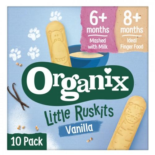 Μπισκότα Οδοντοφυΐας με Βανίλια 'Little Ruskits' +6μ (60γρ) Organix
