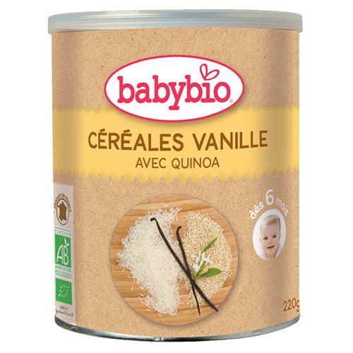 Κρέμα Δημητριακών με Κινόα & Βανίλια +6μ (220γρ) Babybio