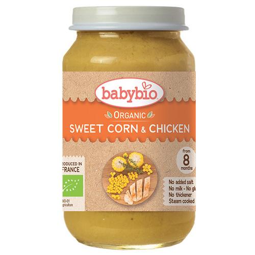 Γεύμα με Κοτόπουλο & Λαχανικά +8μ (200γρ) Babybio