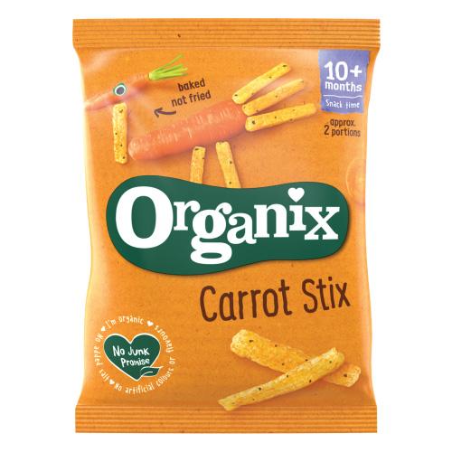 Σνάκ Καλαμποκιού με Καρότο & Μυρωδικά 'Carrot Stix' +10μ (15γρ) Organix