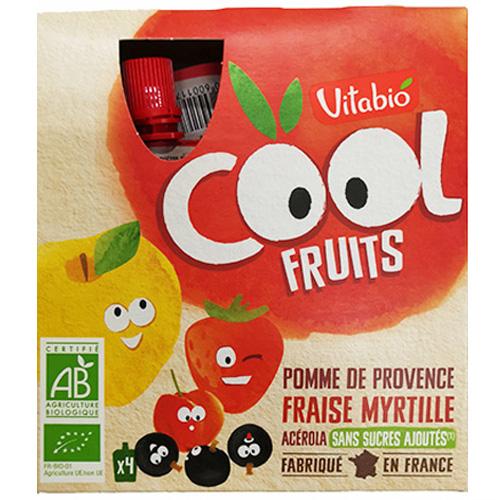 Επιδόρπιο Φρούτων με Μήλο, Φράουλα & Μύρτιλλο (4x90γρ) Vitabio