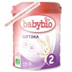 Βρεφική Φόρμουλα από Αγελαδινό Γάλα 'Optima 2' για 6-12μ + ΔΩΡΟ Tote Bag (800γρ) Babybio