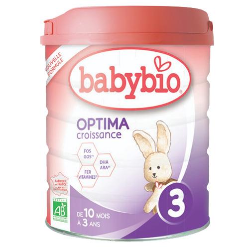 Βρεφική Φόρμουλα Ανάπτυξης από Αγελαδινό Γάλα 'Optima 3' +10μ (800γρ) Babybio